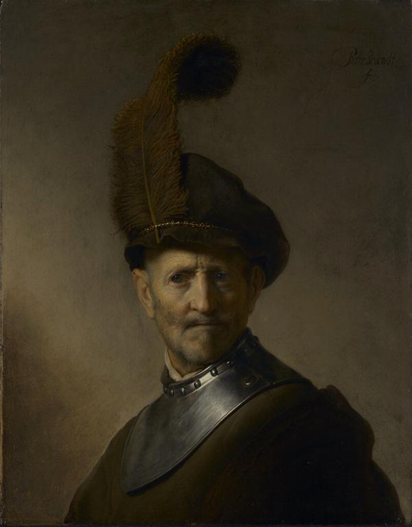 An Old Man in Military Costume / Rembrandt Harmensz. van Rijn