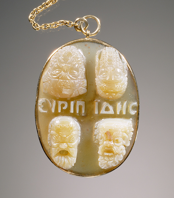 Cameo with four masks / Roman