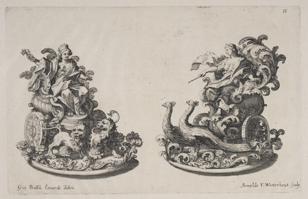 Sugar sculptures of Cybele and Juno