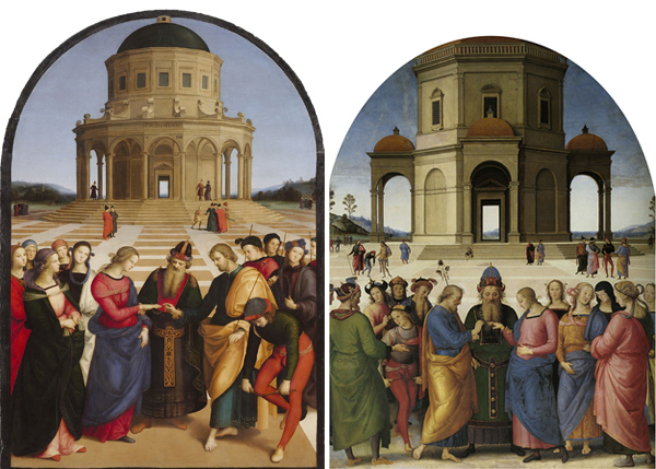 Marriage of the Virgin by Raphael and Perugino