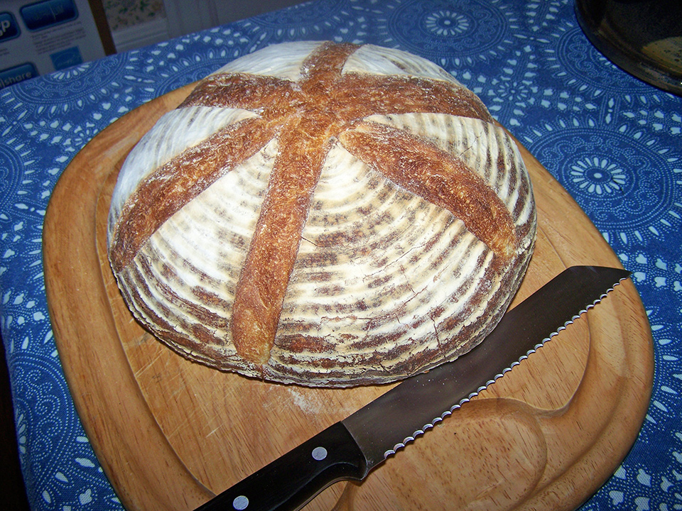 Medieval-inspired bread loaf
