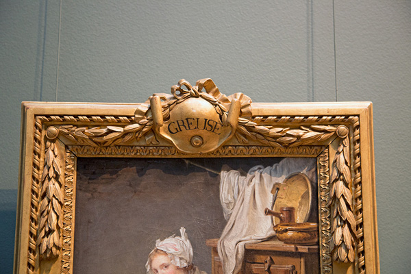 Detail of frame around The Laundress / Jean-Baptiste Greuze