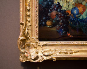 Detail of frame on Fruit Piece / Van Huysum