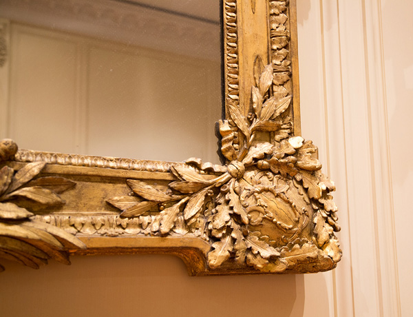 Detail of a corner of a Frame with Mirror / Paul (?) Georges