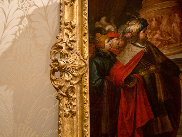 Detail of the frame around the Idolatry of Solomon / Frans Francken II