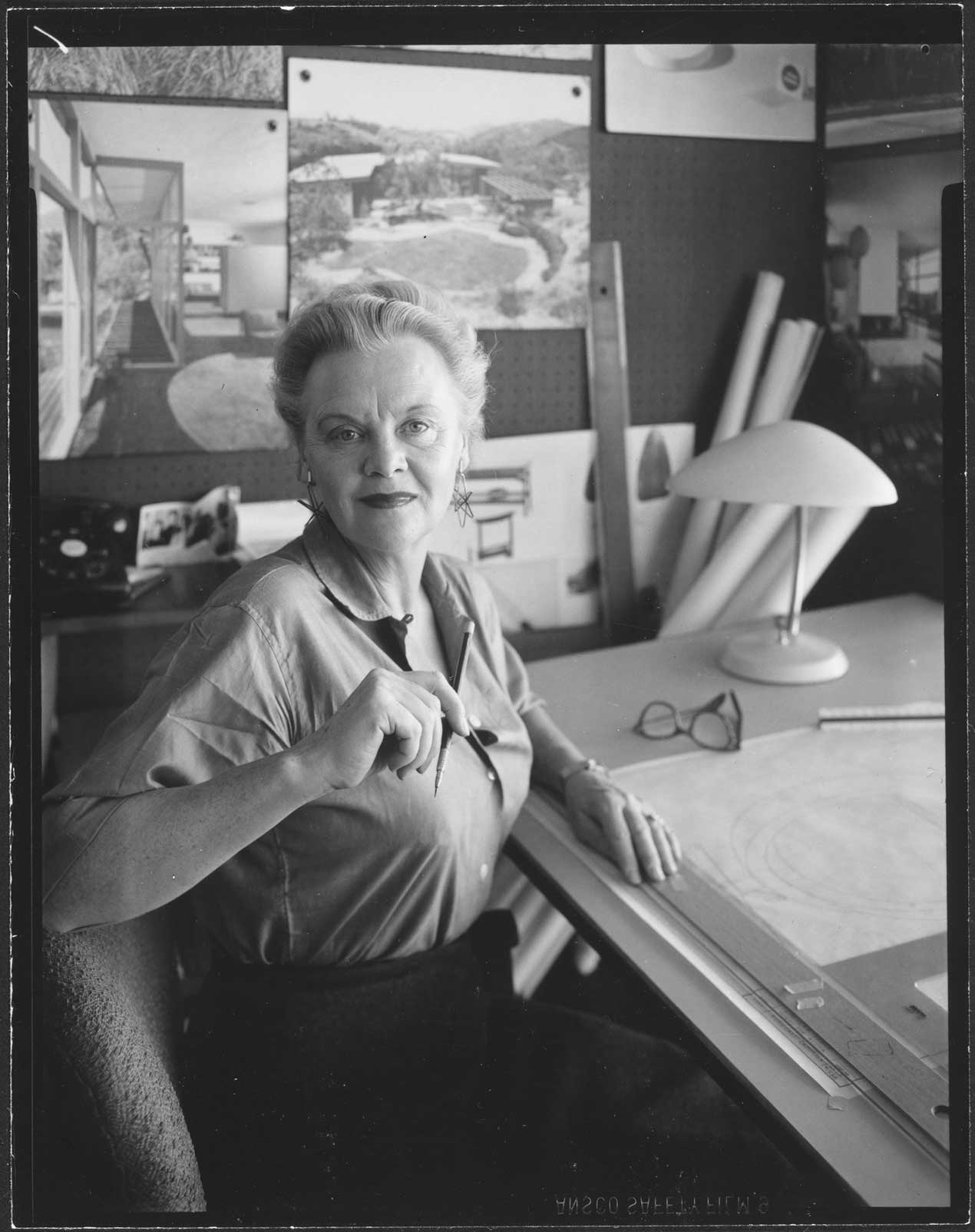 Architect Greta Magnusson Grossman photographed by Julius Shulman in 1959