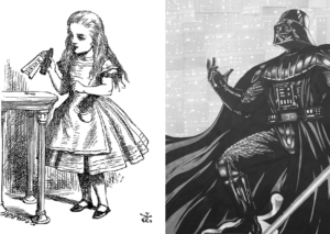 Alice and Wonderland and Darth Vader