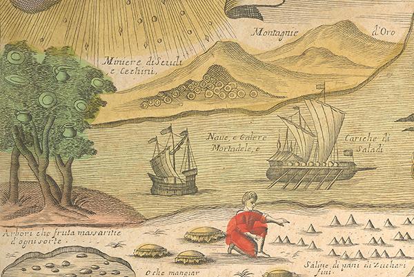 Land of Cockaigne / detail of landscape