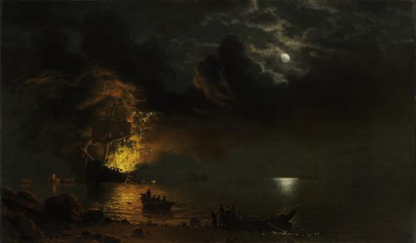Burning Ship / Bierstadt