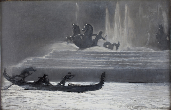 Fountains at Night / Homer