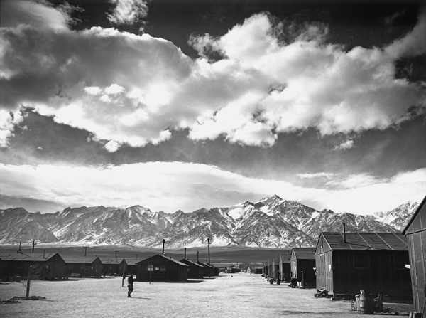 Manzanar Street Scene, Spring, 1943, Ansel Adams. Gelatin silver print (printed 1984). Private collection; courtesy of Photographic Traveling Exhibitions