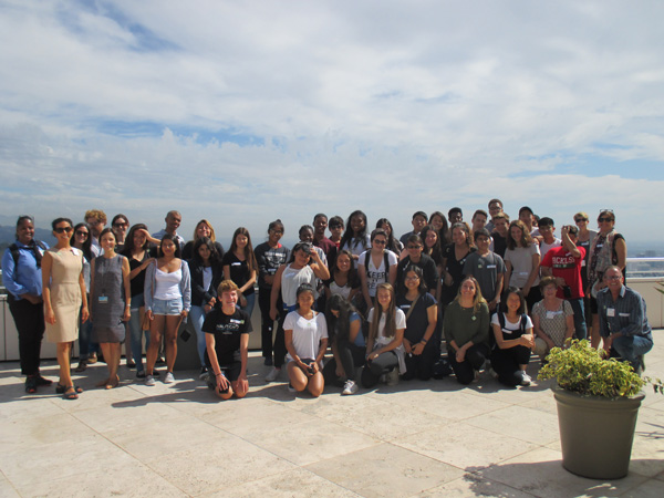 10th graders from University High visit the Getty as part of the Community Photoworks program