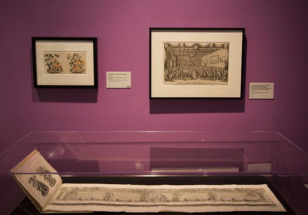 Installation view of etching of sugar sculpture / Teyler after Lenardi