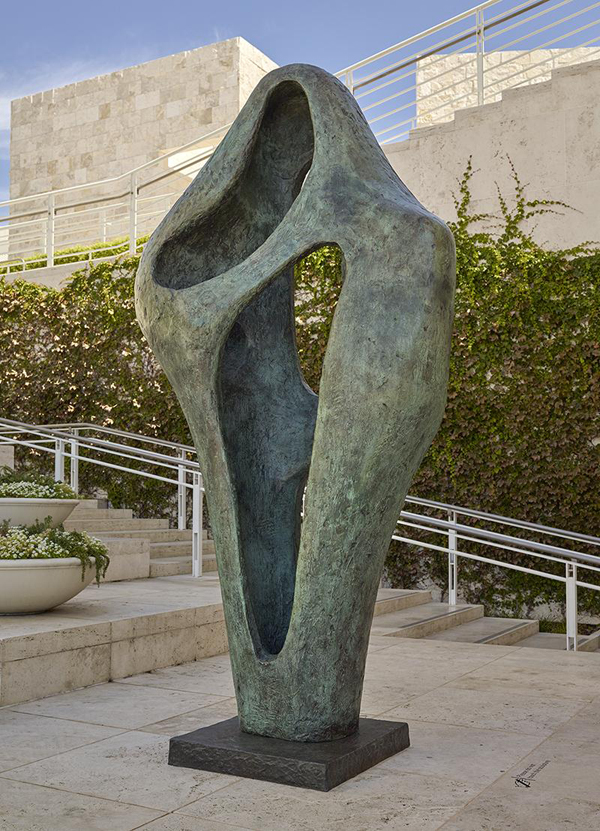 Figure 3: Figure for Landscape, 1960, Barbara Hepworth. Bronze. The J. Paul Getty Museum, Gift of Fran and Ray Stark, 2005.108. © Bowness. After treatment on the Fran and Ray Sculpture Terrace.