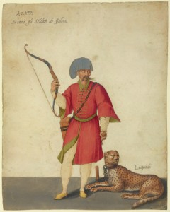 An Azappo Archer with a Cheetah