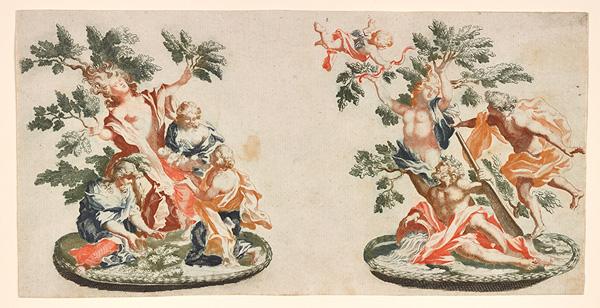 Triumphs of Myrrha and Daphne / Teyler after Lenardi