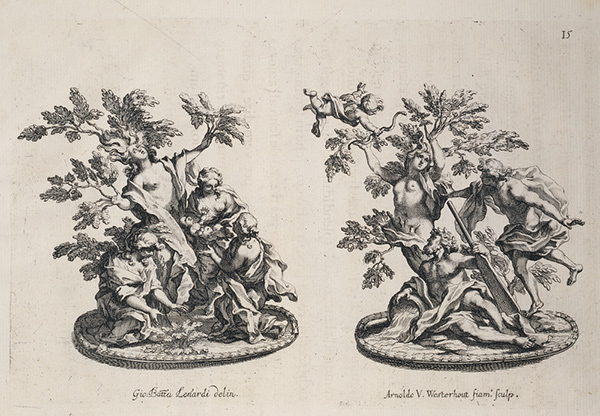 Triumphs of Myrrha and Daphne / Westerhout after Lenardi