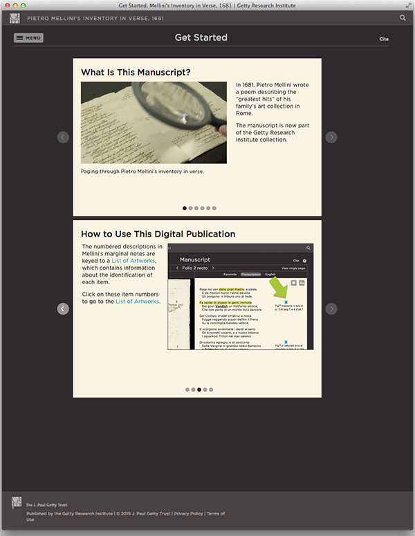 Mellini Get Started page