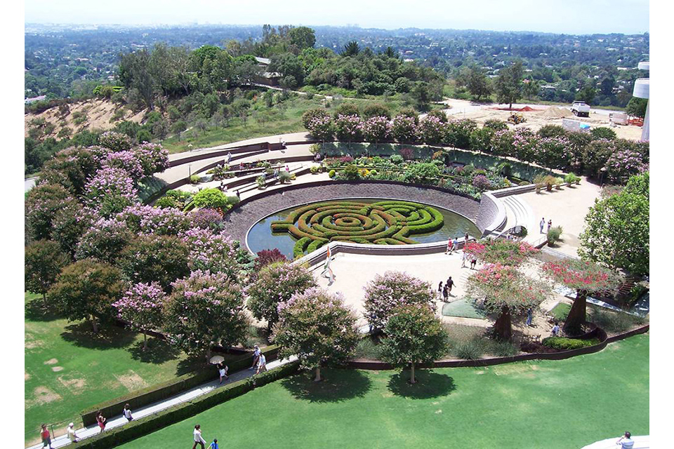 Garden Design Birds Eye View getty salad garden: robert irwin | the getty iris