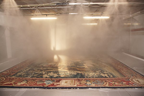 Tapestry being cleaned at the De Wit Royal Manufacturers