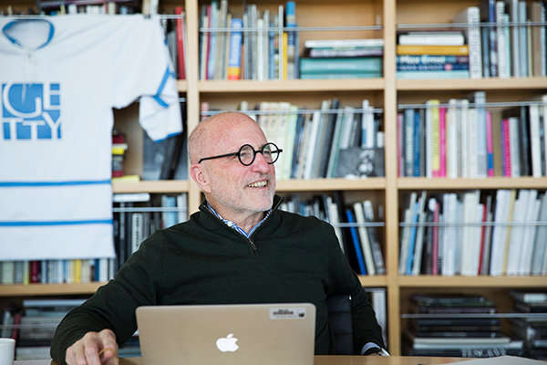 James Cuno in his office at the Getty