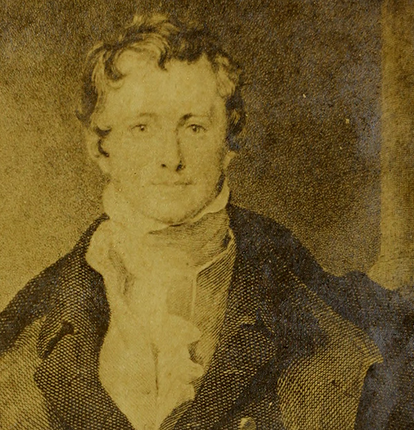 A Portrait of Sir Humphrey Davy. The First Experimenter in Photography (detail), before 1855, O. Sackersdorff, in Allen S. Heath, Photography: A new treatise, theoretical and practical…