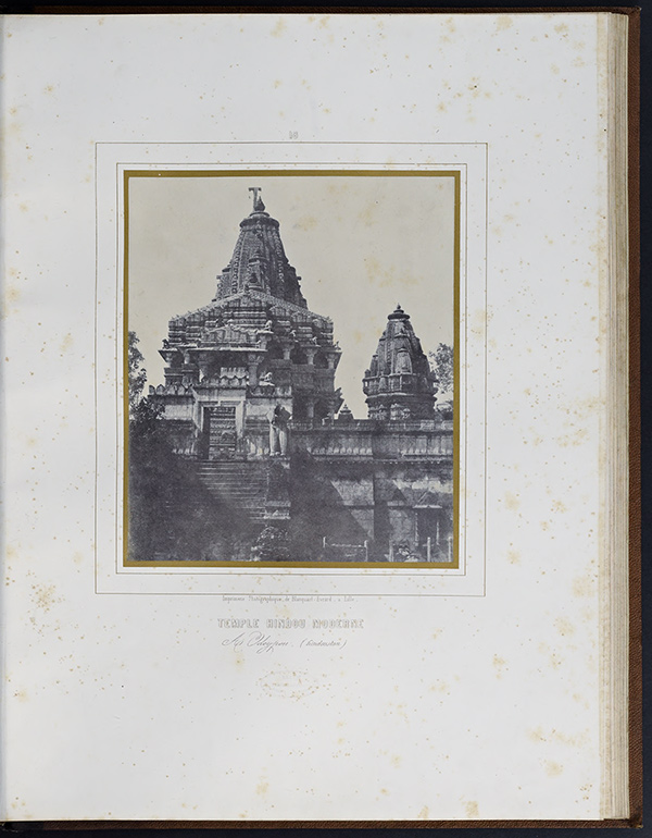 Temple Hindou Moderne à Mondlésir entre Agra & Bombay (Hindoustan), 1849–51, Alexis de La Grange. Salted paper print in Louis Désiré Blanquart-Evrard, Album photographique de l'artiste et de l'amateur