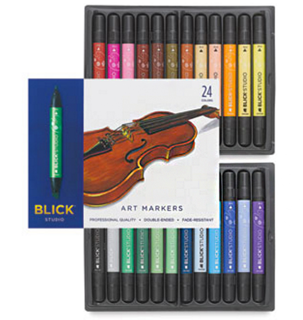Blick studio markers, set of 24