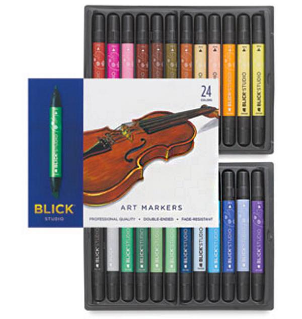 Blick studio markers, set of 24