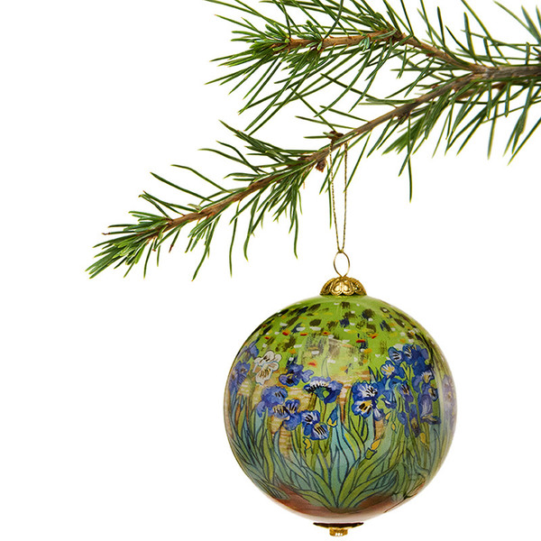 Van Gogh Irises Christmas ornament