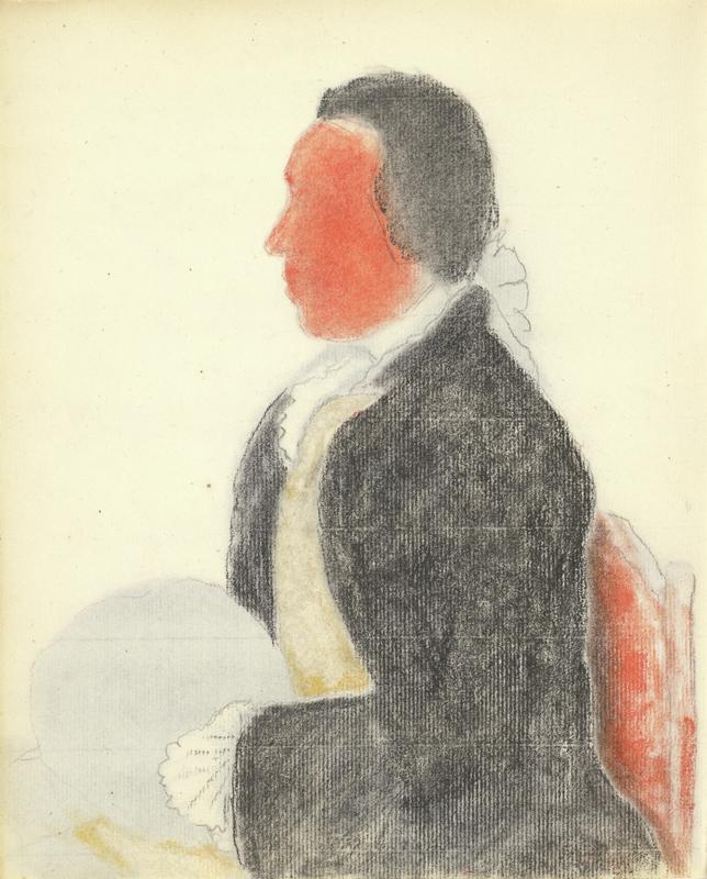 Verso of Portrait of Charles Benjamin de Langes de Montmirail, Baron de Lubieres / Liotard