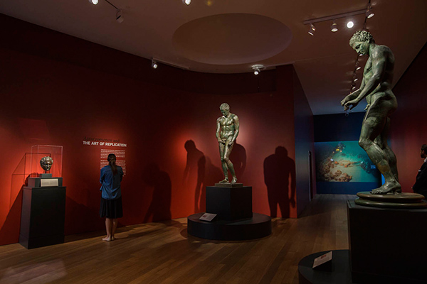Installation view of Power and Pathos at the Getty