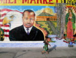MLK Jr. mural at Illa Family Market, 50 Place and S. Vermont Ave., photographed 2004