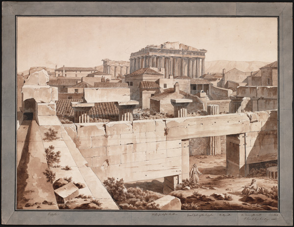 View of the Parthenon from the Propylaea / Pomardi