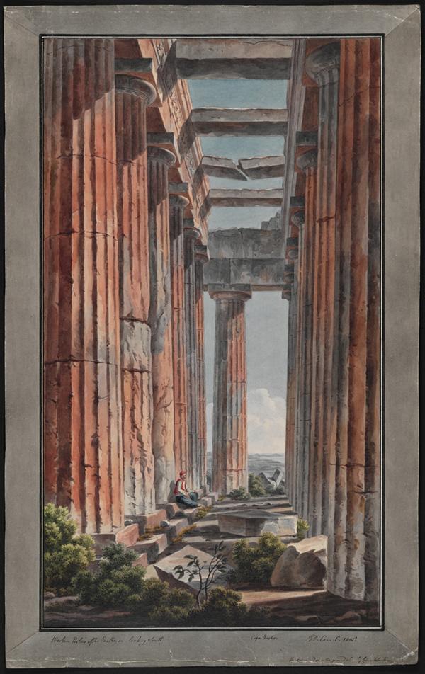 West Portico of the Parthenon, Athens =/ Edward Dodwell and Filippo Maria Giuntotardi