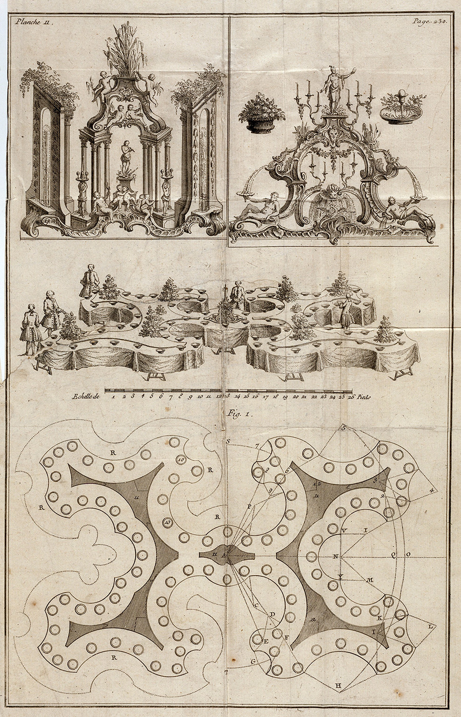 Surtouts and a Geometric Table Plan / Jean-Charles Francois