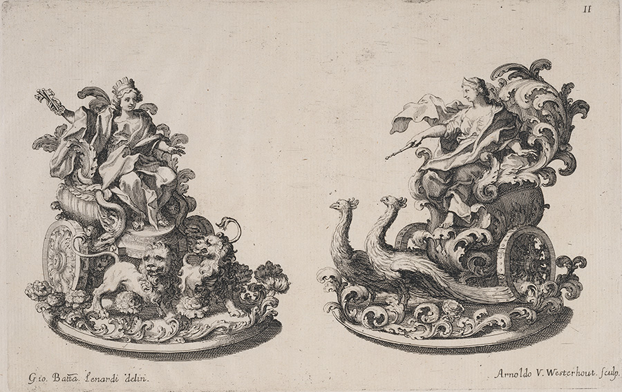 Sugar Sculptures of Cybele and Juno / Arnold van Westerhout