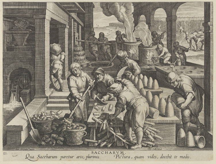 The Invention of Sugar Refinery / Jan Collaert I after Jan van der Straet