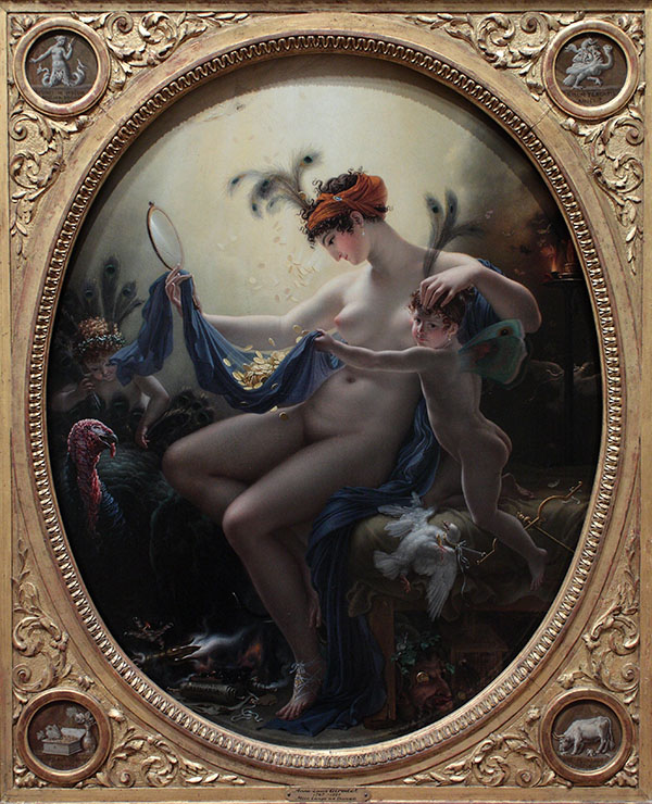 Portrait of Mlle. Lange as Danaë, 1799, Anne-Louis Girodet de Roussy-Trioson. Oil on canvas, 23 3/4 x 19 1/8 in. Minneapolis Institute of Art, The William Hood Dunwoody Fund, 69.22. Source: Wikimedia Commons