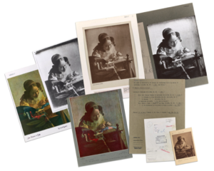 Collage of photos and documents from the Photo Archive of the Getty Research Institute