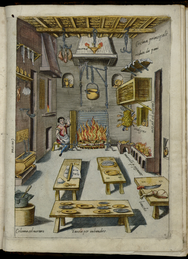 Cucina Principale inM. Bartolomeo Scappi, Opera