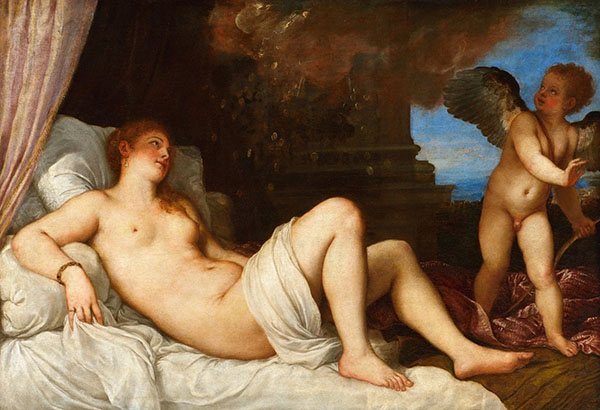 Danaë, 1544–5, Titian. Oil on canvas. Capodimonte Museum, Naples. Source: Wikimedia Commons