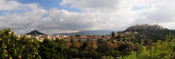 The Athenian Agora as seen from the Temple of Hephaistos, 2014