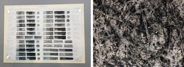 Sampler Chart and Powdered Charcoal 96x