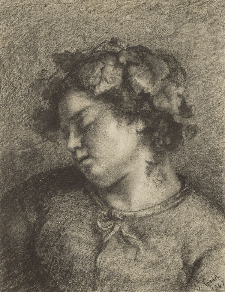 Head of a Sleeping Bacchante / Gustave Courbet