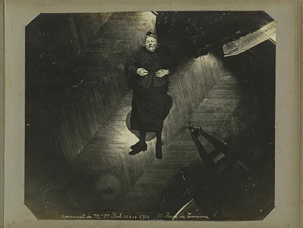 Murder of Madame Veuve Bol, Projection on a Vertical Plan, 1904, Album of Paris Crime Scenes, Alphonse Bertillon. Courtesy The Metropolitan Museum of Art