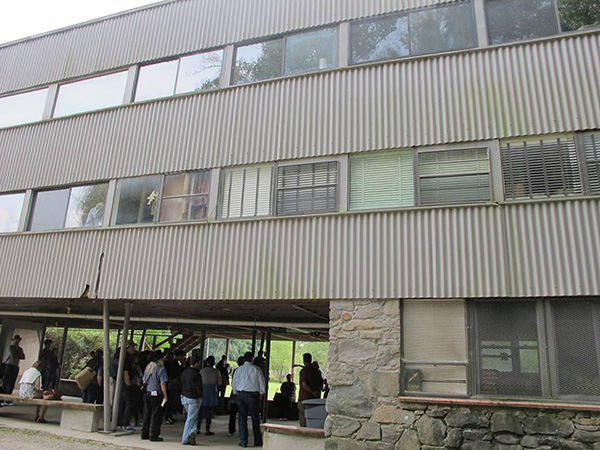 A photograph of the Studies Building at Black Mountain College taken while on a tour / 2014