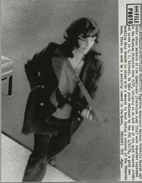 Patricia (Patty) Hearst during Hibernia Bank Robbery, San Francisco