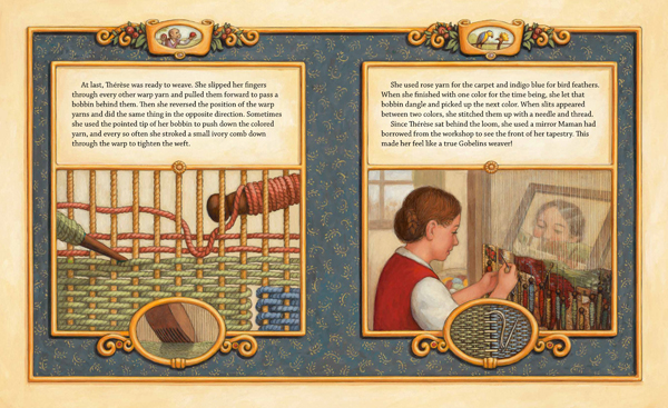 Page from Therese Makes a Tapestry