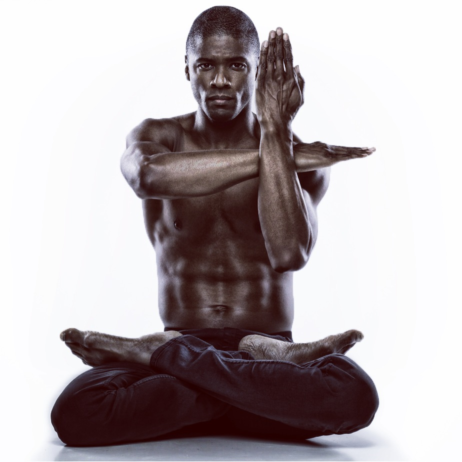 Lamonte Goode in a lotus position